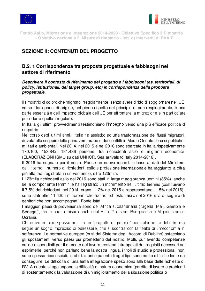 """Anteprima della tesi: Presentazione del Progetto di Rimpatrio Volontario Assistito """"I Colori del Futuro"""", Pagina 2"""