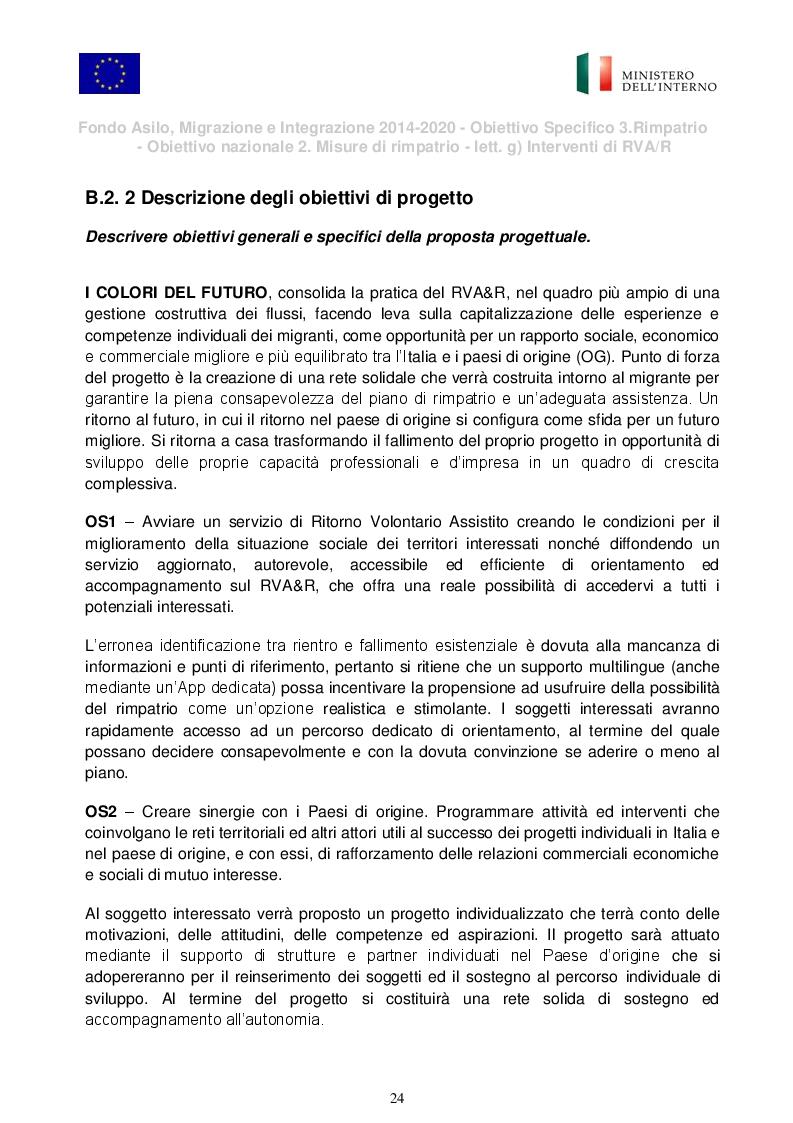 """Anteprima della tesi: Presentazione del Progetto di Rimpatrio Volontario Assistito """"I Colori del Futuro"""", Pagina 4"""
