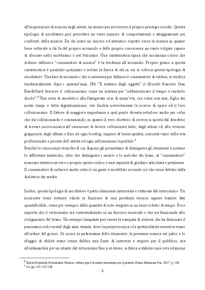 Anteprima della tesi: Musica e società: le tecniche musicali e le pratiche di ascolto nell'era dell'industria culturale, Pagina 6