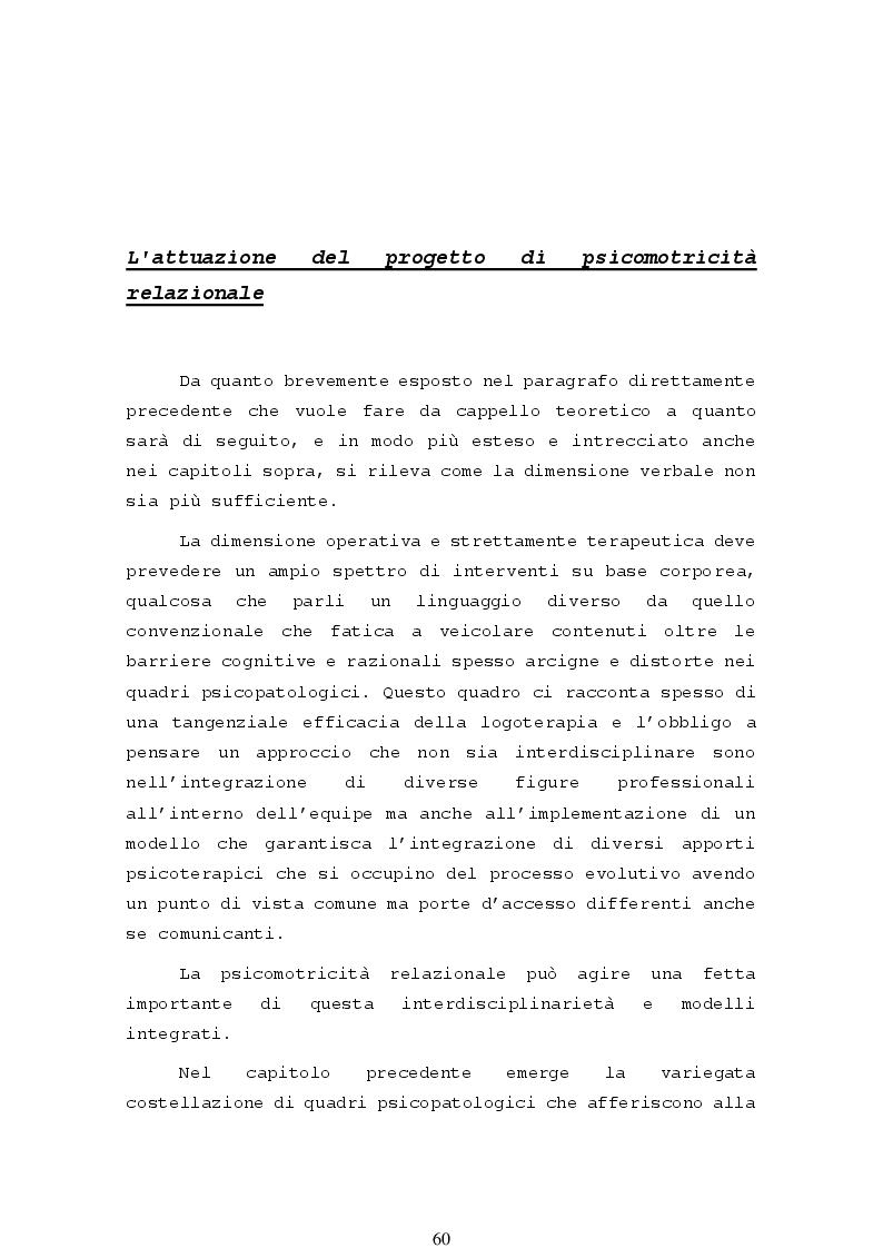 Anteprima della tesi: La psicomotricità relazionale e le sue applicazioni in ambito terapeutico, Pagina 2