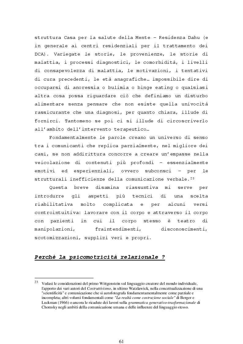 Anteprima della tesi: La psicomotricità relazionale e le sue applicazioni in ambito terapeutico, Pagina 3