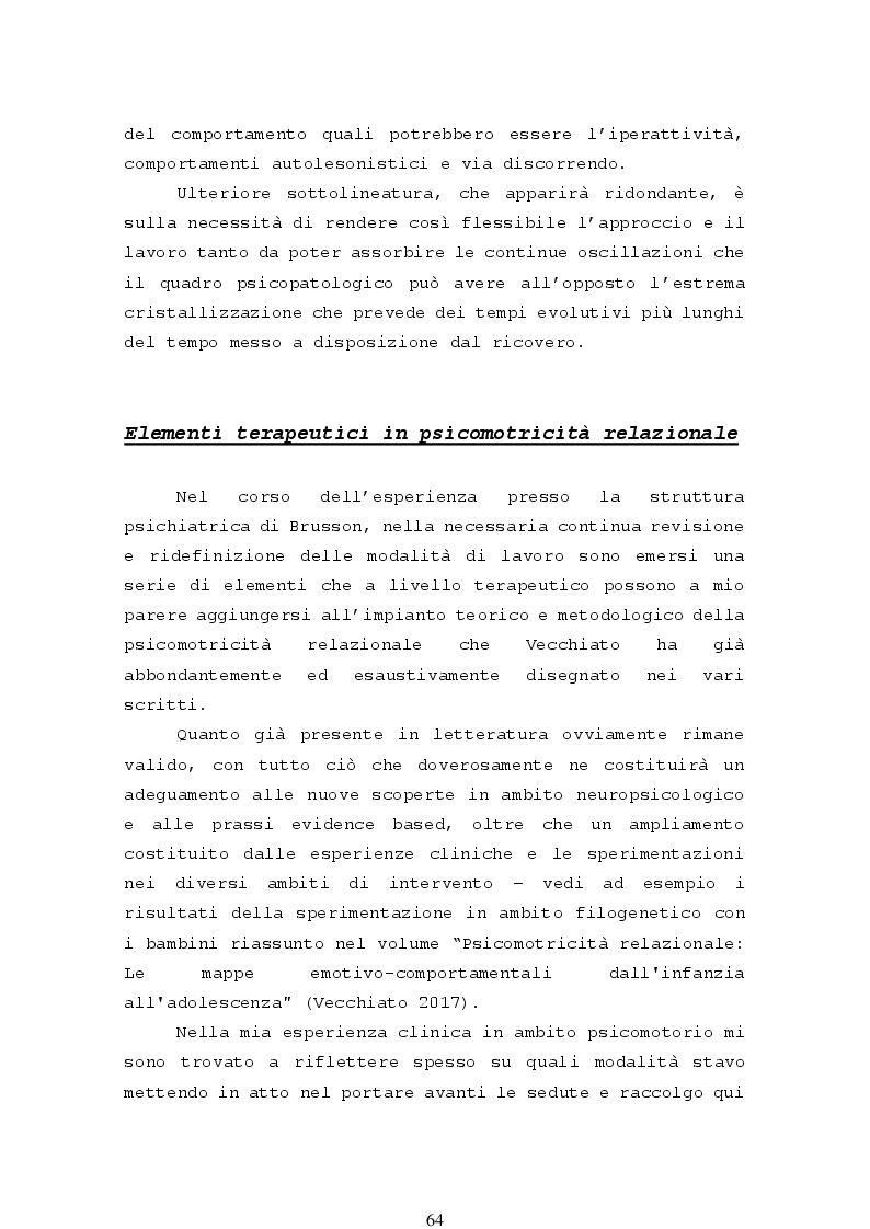 Anteprima della tesi: La psicomotricità relazionale e le sue applicazioni in ambito terapeutico, Pagina 6