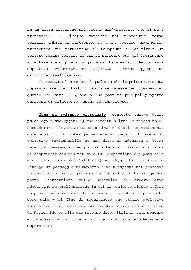 Anteprima della tesi: La psicomotricità relazionale e le sue applicazioni in ambito terapeutico, Pagina 8