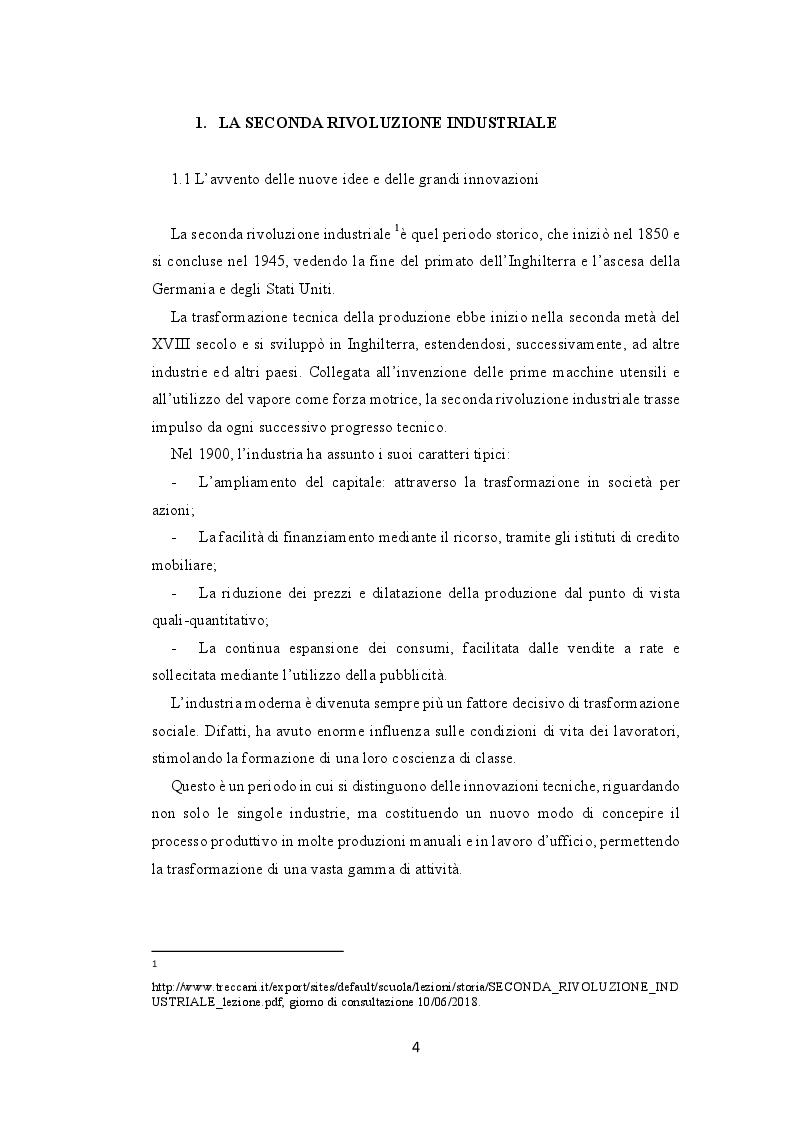 Anteprima della tesi: La seconda rivoluzione industriale e commerciale: l'avvento e la trasformazione dei grandi magazzini, Pagina 2