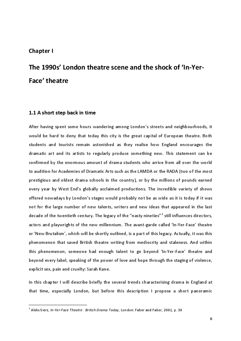Anteprima della tesi: ''Only love can save me and love has destroyed me'': Interpersonal and self-inflicted violence in Sarah Kane's theatre, Pagina 2