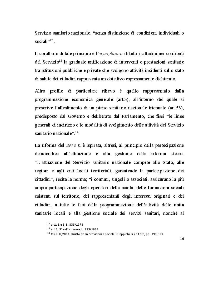 Anteprima della tesi: Promozione e tutela della salute. Analisi dell'esperienza presso la Casa della Divina Provvidenza, Pagina 4