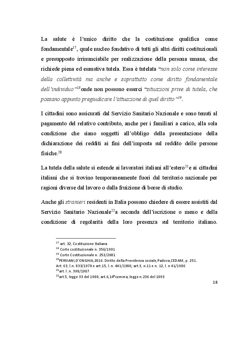 Anteprima della tesi: Promozione e tutela della salute. Analisi dell'esperienza presso la Casa della Divina Provvidenza, Pagina 6