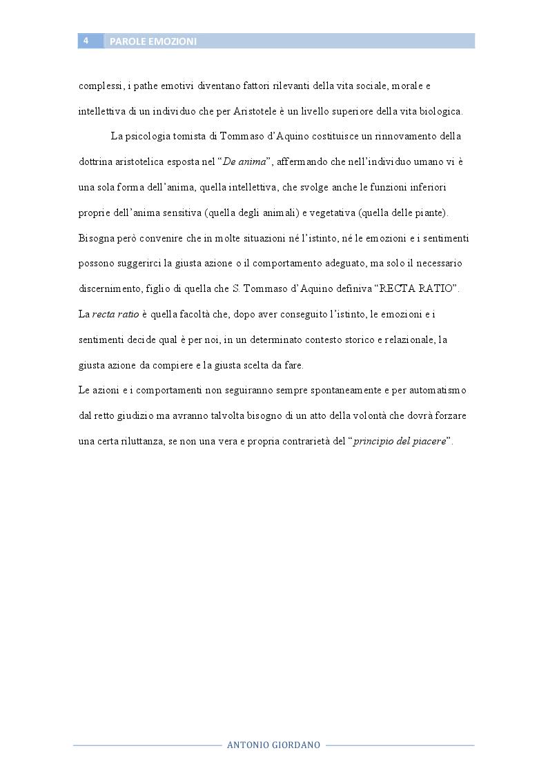 Anteprima della tesi: Le parole che esprimono emozioni, Pagina 5