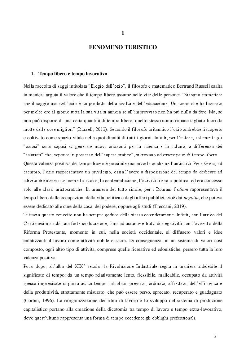 Anteprima della tesi: Turismo esperienziale e pratica sportiva: una ricerca sul campo, Pagina 3