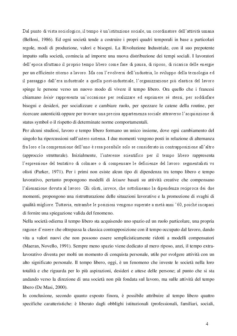 Anteprima della tesi: Turismo esperienziale e pratica sportiva: una ricerca sul campo, Pagina 4