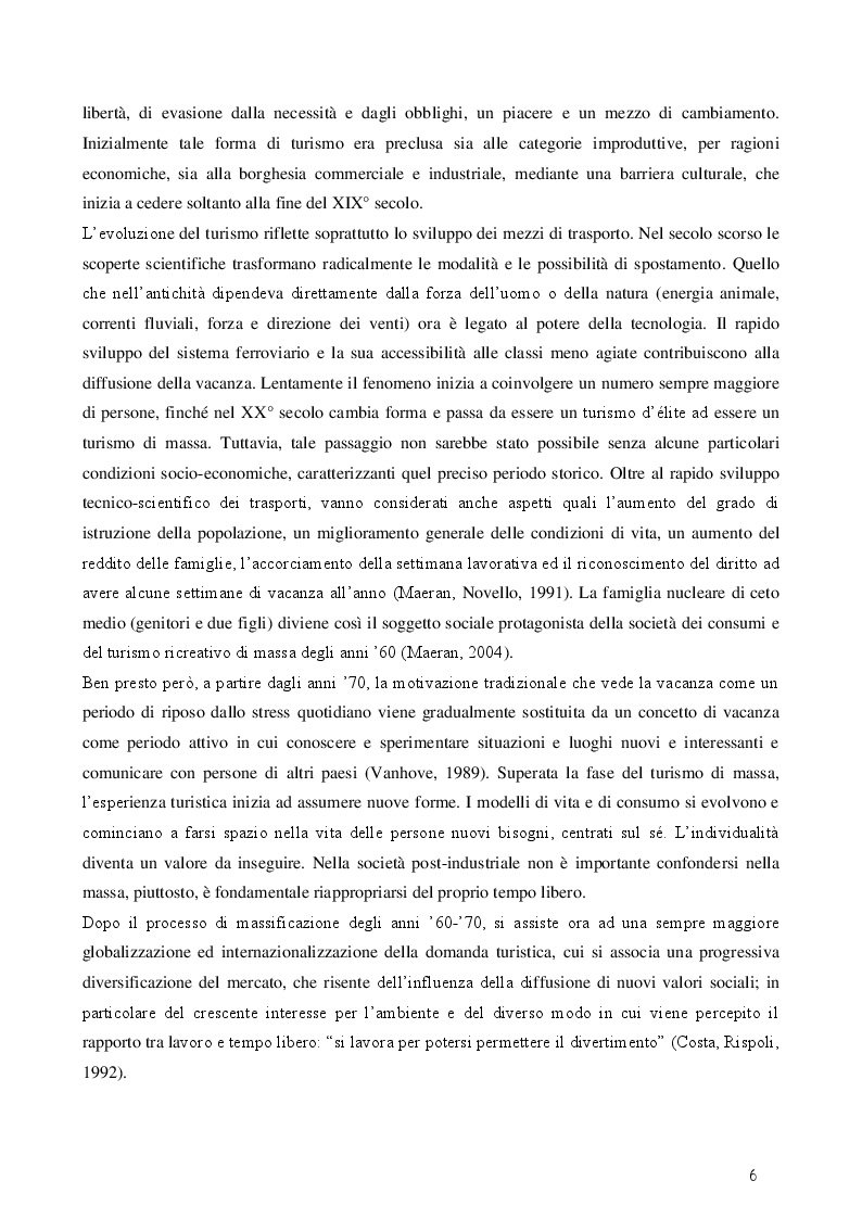 Anteprima della tesi: Turismo esperienziale e pratica sportiva: una ricerca sul campo, Pagina 6