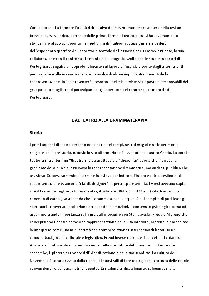 Anteprima della tesi: L'Esperienza Riabilitativa del Teatro, Pagina 3