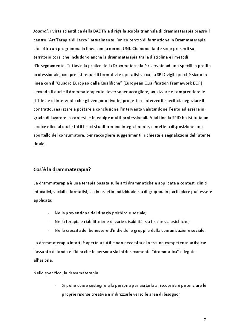 Anteprima della tesi: L'Esperienza Riabilitativa del Teatro, Pagina 5