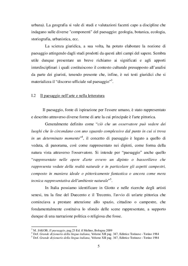 Anteprima della tesi: La nozione di paesaggio nella giurisprudenza, Pagina 6