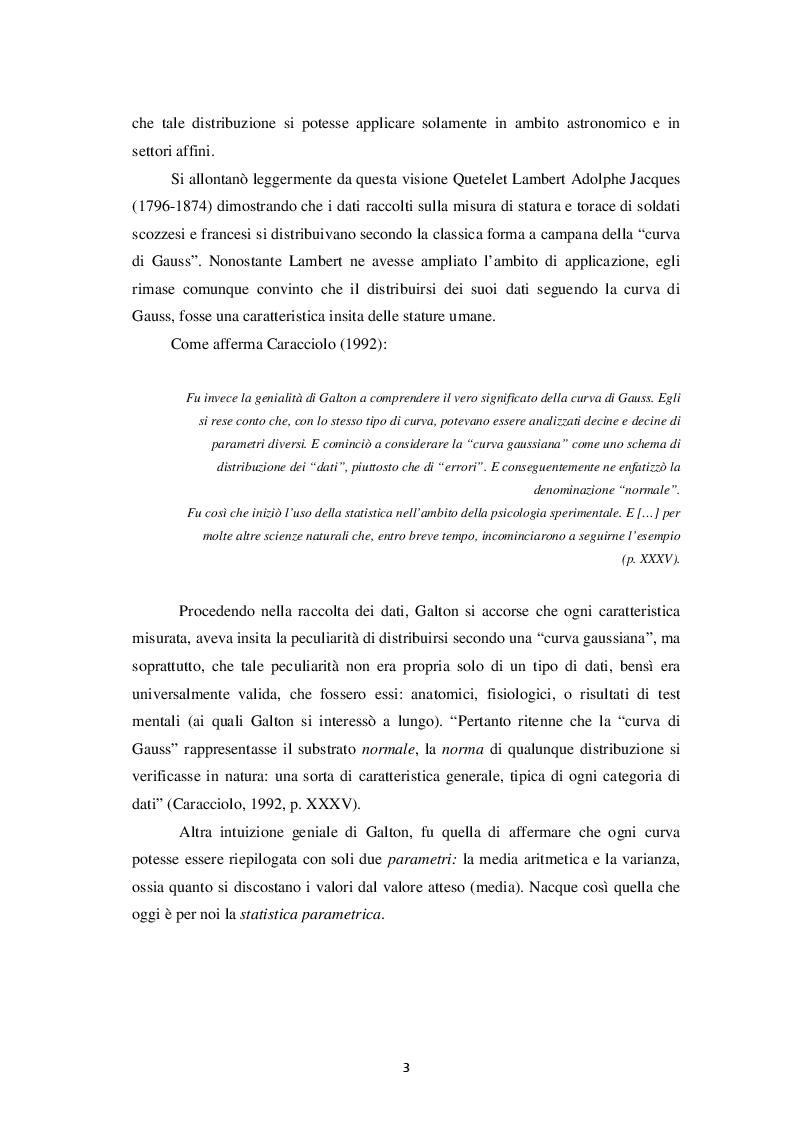 Anteprima della tesi: Rilevanza della statistica non parametrica in psicologia, Pagina 3