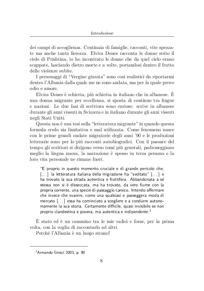 Anteprima della tesi: Elvira Dones: per una multicultura letteraria, Pagina 3