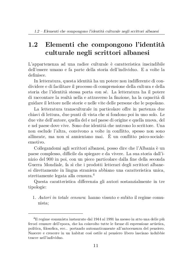 Anteprima della tesi: Elvira Dones: per una multicultura letteraria, Pagina 6
