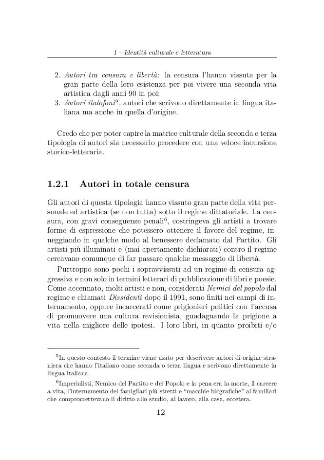 Anteprima della tesi: Elvira Dones: per una multicultura letteraria, Pagina 7