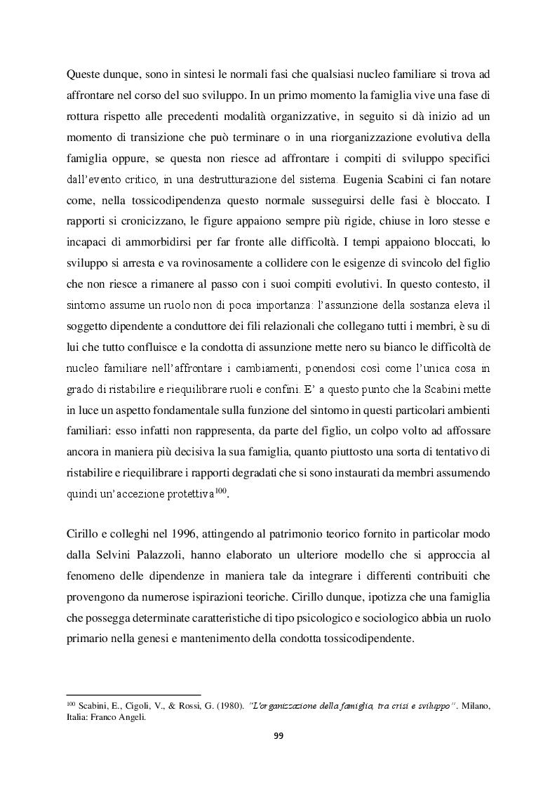Anteprima della tesi: Genitorialità in situazioni di rischio: genesi, caratteristiche delle dipendenze patologiche e il ruolo nella compromissione delle funzioni genitoriali, Pagina 10