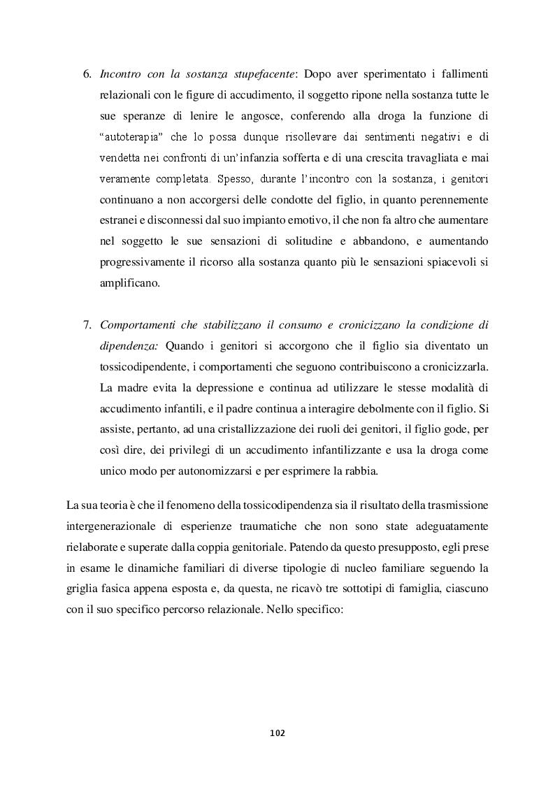 Anteprima della tesi: Genitorialità in situazioni di rischio: genesi, caratteristiche delle dipendenze patologiche e il ruolo nella compromissione delle funzioni genitoriali, Pagina 13
