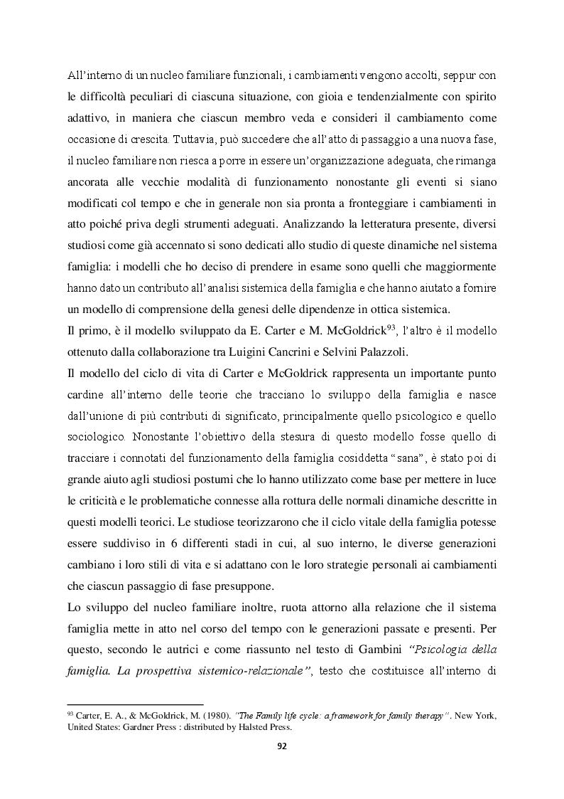 Anteprima della tesi: Genitorialità in situazioni di rischio: genesi, caratteristiche delle dipendenze patologiche e il ruolo nella compromissione delle funzioni genitoriali, Pagina 3