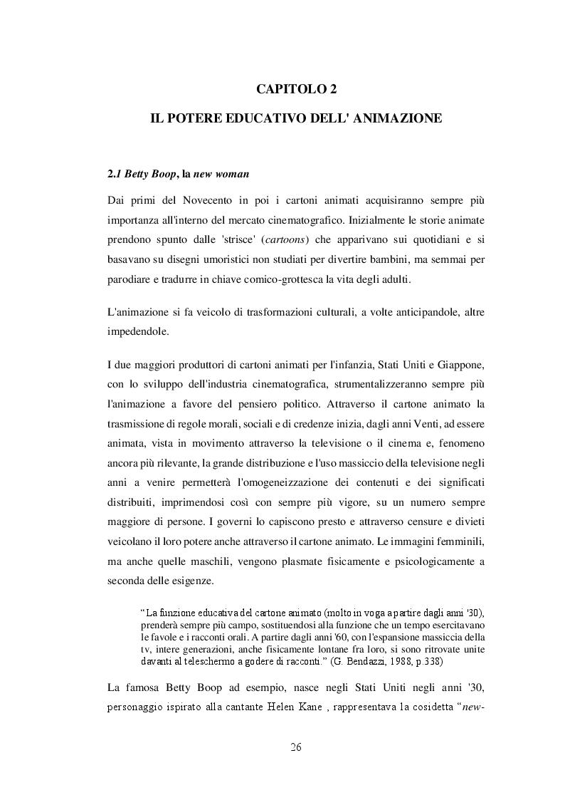 Anteprima della tesi: La costruzione impari del genere 'donna' attraverso la performatività delle immagini: modelli e stereotipi nel mondo televisivo italiano, Pagina 2