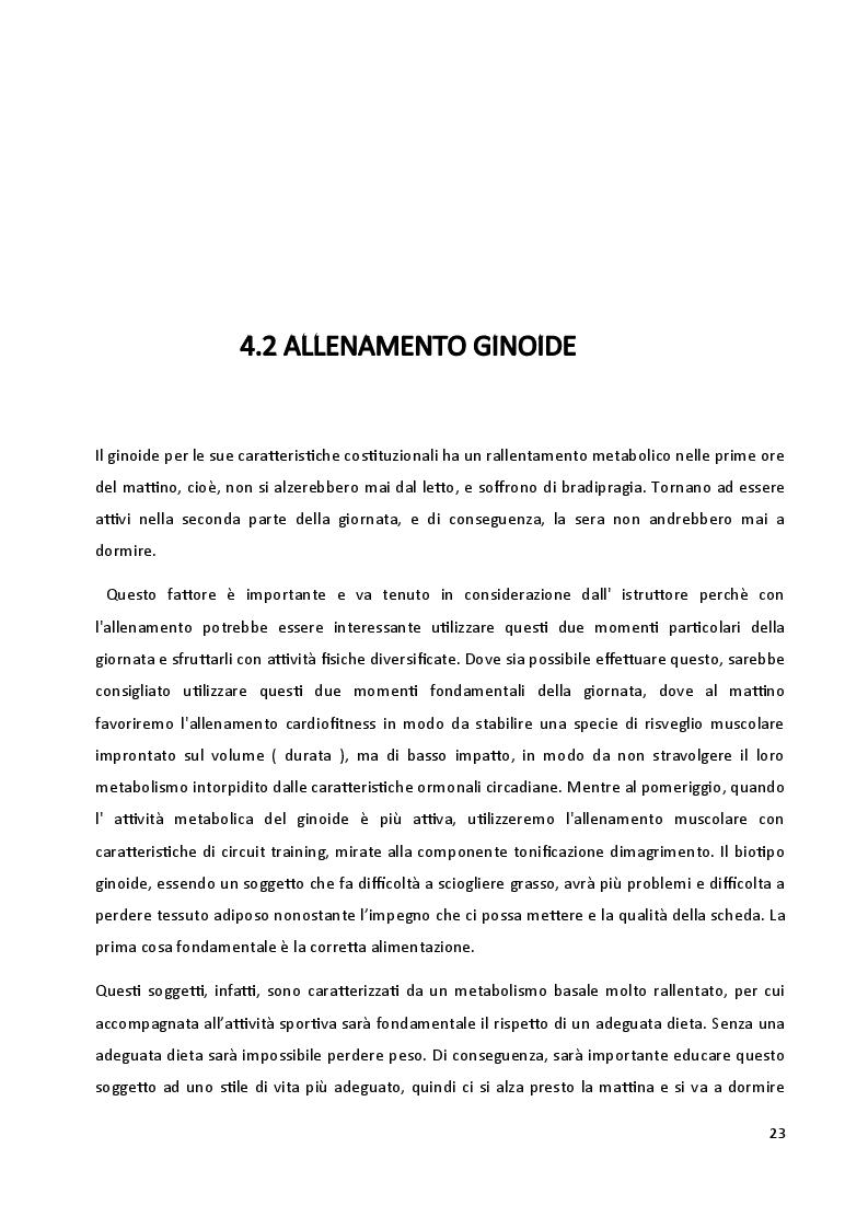 Anteprima della tesi: I biotipi costituzionali, la progettazione di un allenamento, Pagina 2