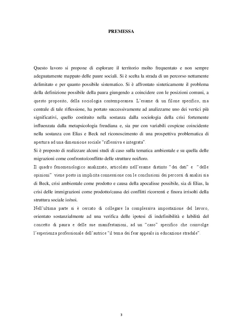 Anteprima della tesi: Origini e Contesti delle Paure Sociali, Pagina 2