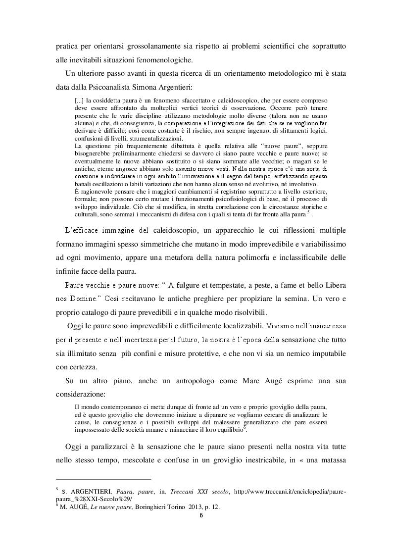 Anteprima della tesi: Origini e Contesti delle Paure Sociali, Pagina 5
