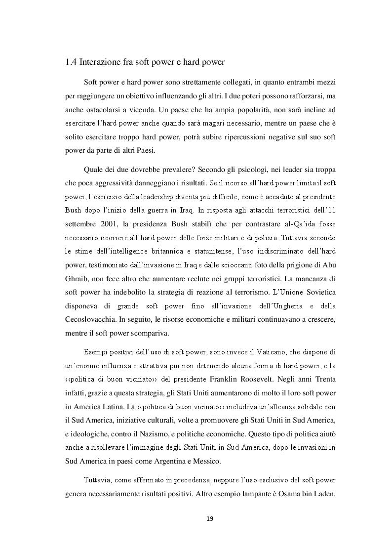 Estratto dalla tesi: Il soft power: il caso Stati Uniti e Cina