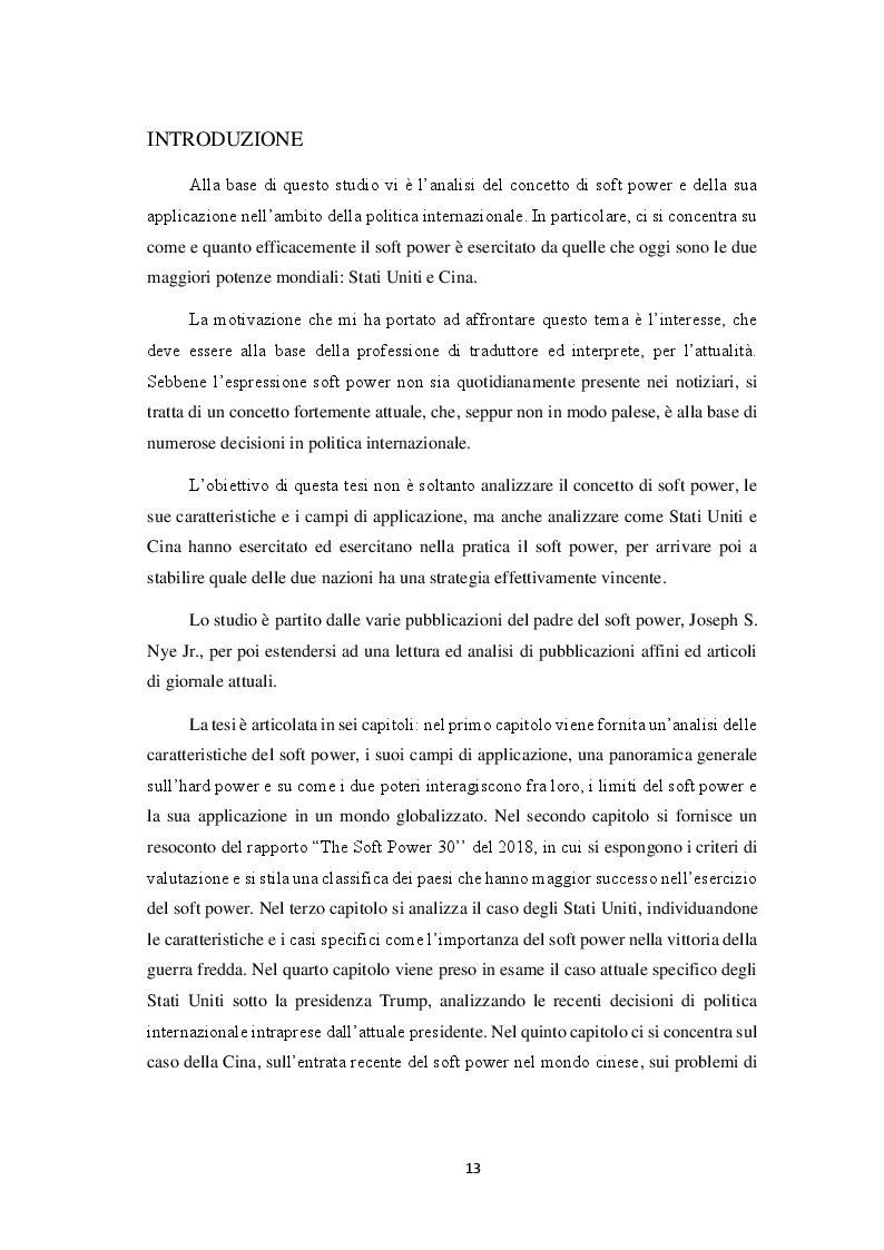 Anteprima della tesi: Il soft power: il caso Stati Uniti e Cina, Pagina 2