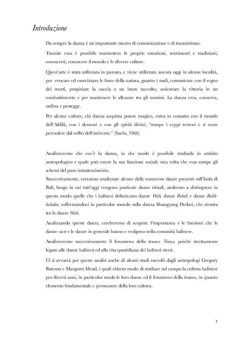 Anteprima della tesi: Comunicare tramite la danza. Antropologia della danza nel contesto balinese, Pagina 2