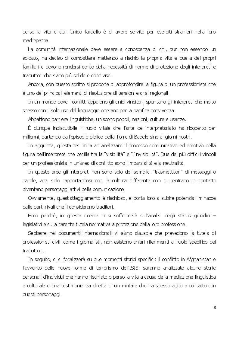 Anteprima della tesi: Traduttore o traditore? Vincoli e rischi di un interprete in operazioni, Pagina 4
