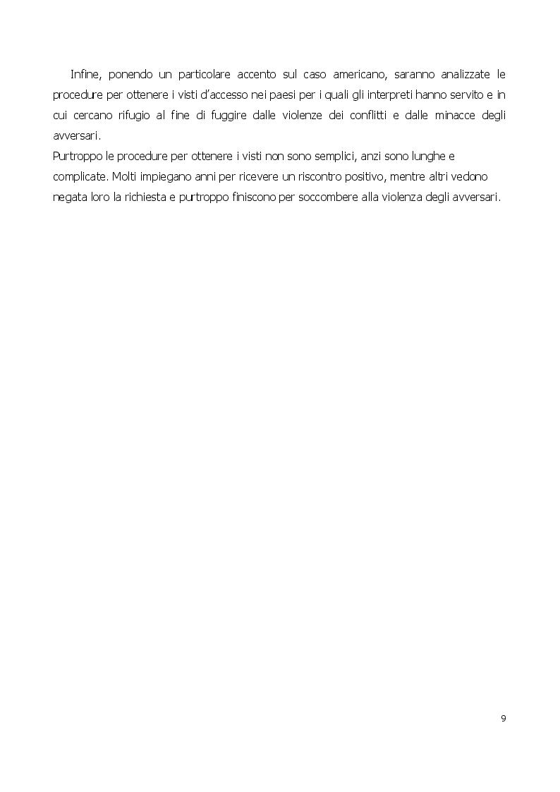 Anteprima della tesi: Traduttore o traditore? Vincoli e rischi di un interprete in operazioni, Pagina 5