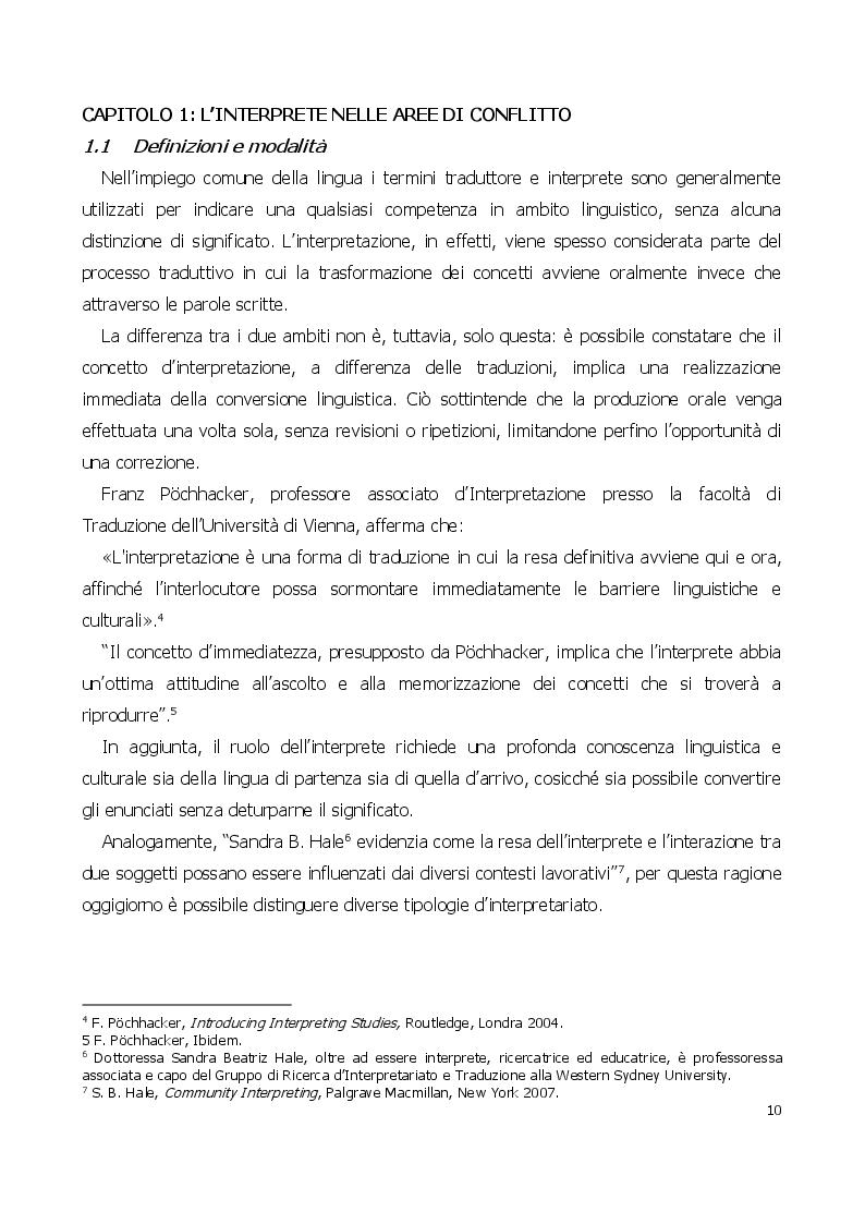 Anteprima della tesi: Traduttore o traditore? Vincoli e rischi di un interprete in operazioni, Pagina 6