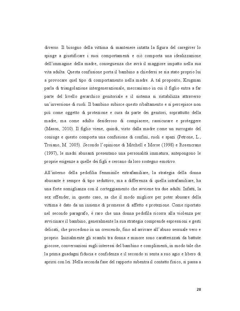 Anteprima della tesi: Pedofilia femminile: la trasmissione intergenerazionale tra madre e figlia, Pagina 3