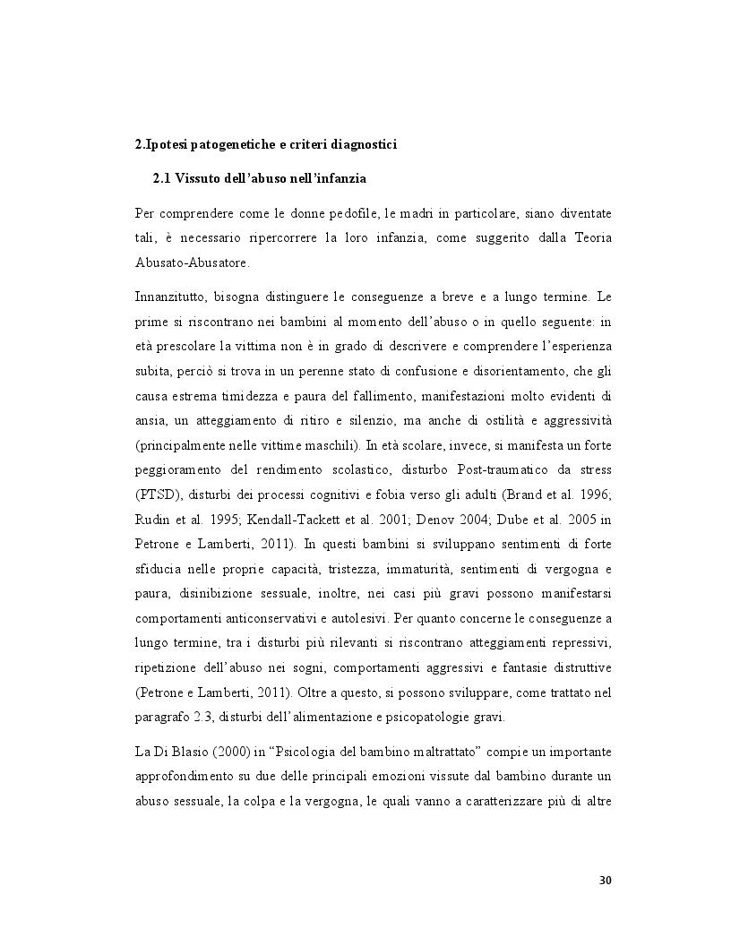 Anteprima della tesi: Pedofilia femminile: la trasmissione intergenerazionale tra madre e figlia, Pagina 5