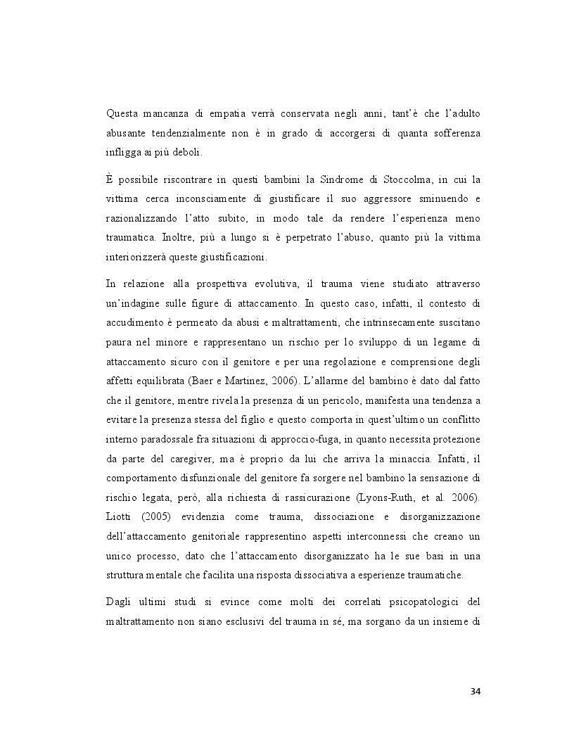 Anteprima della tesi: Pedofilia femminile: la trasmissione intergenerazionale tra madre e figlia, Pagina 9