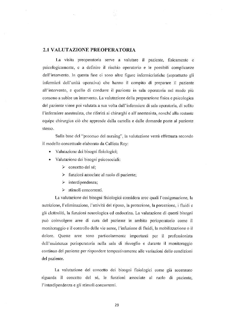Anteprima della tesi: Assistenza infermieristica al paziente in sala operatoria, Pagina 2