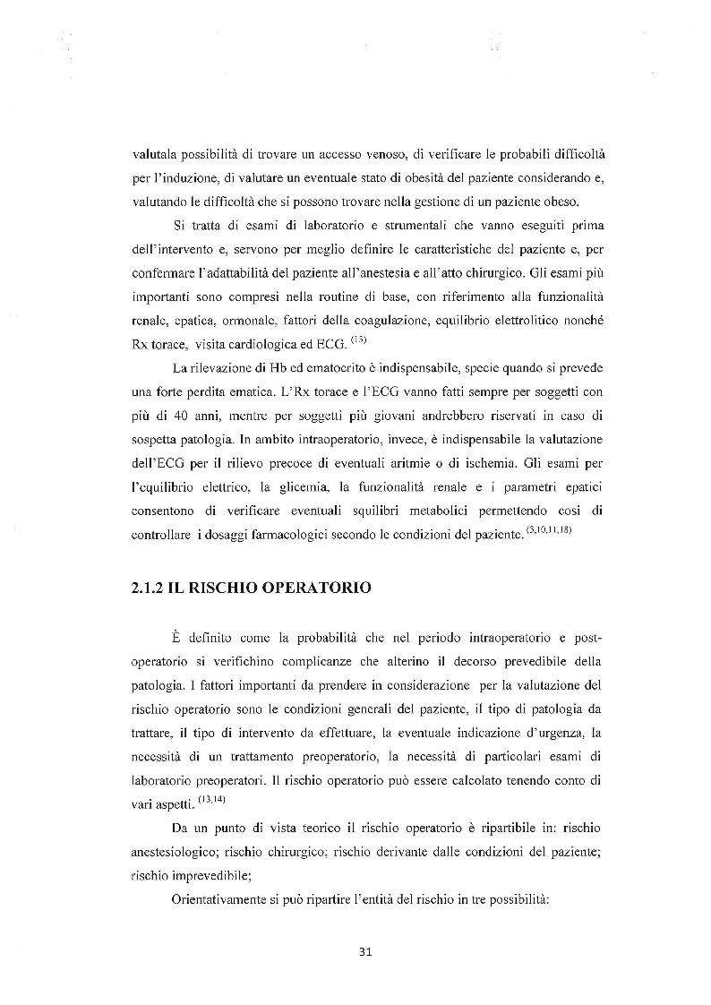 Anteprima della tesi: Assistenza infermieristica al paziente in sala operatoria, Pagina 4