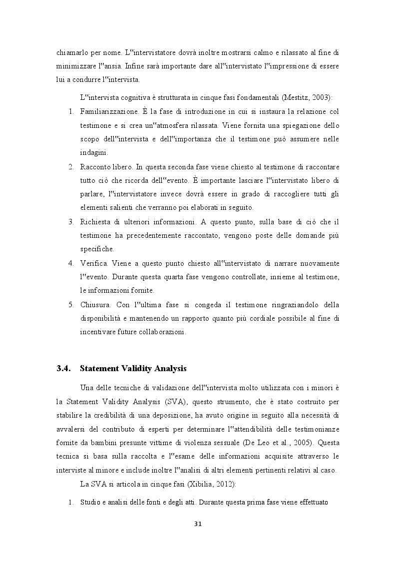 """Anteprima della tesi: Testimonianza e valutazione dei falsi ricordi. La """"macchina della memoria"""" nel contesto giuridico italiano, Pagina 5"""