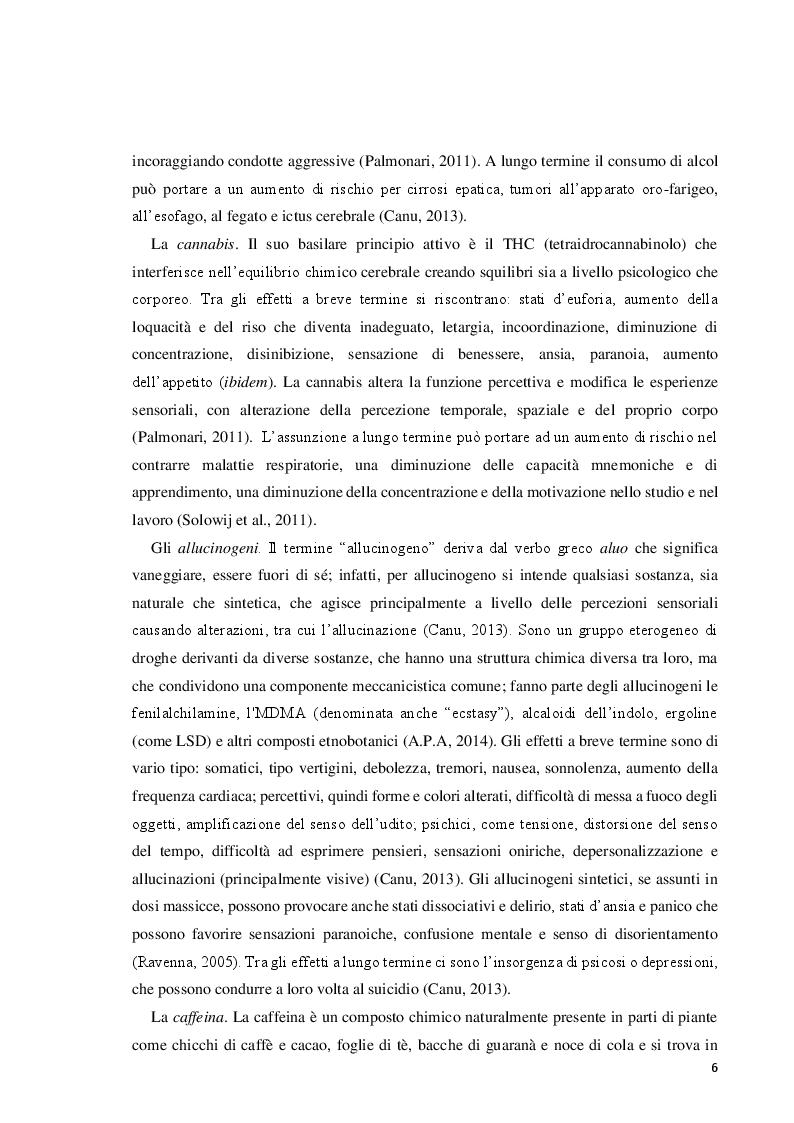 Anteprima della tesi: Il disturbo da uso di sostanze in adolescenza: lettura e prevenzione alla luce della teoria dell'attaccamento, Pagina 6