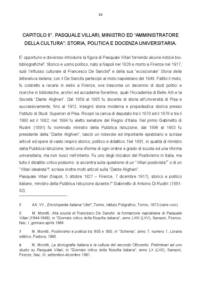Anteprima della tesi: Le carte Villari all'Accademia Toscana di Scienze e Lettere ''La Colombaria'', Pagina 2