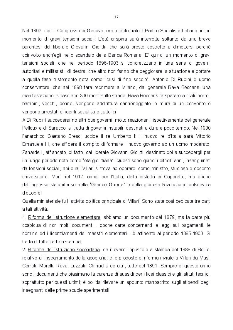 Anteprima della tesi: Le carte Villari all'Accademia Toscana di Scienze e Lettere ''La Colombaria'', Pagina 4