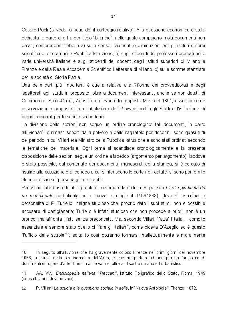 Anteprima della tesi: Le carte Villari all'Accademia Toscana di Scienze e Lettere ''La Colombaria'', Pagina 6