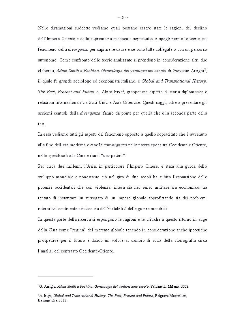 Anteprima della tesi: La Cina. Il dibattito storiografico tra ''divergenze'' e ''convergenze'', Pagina 4