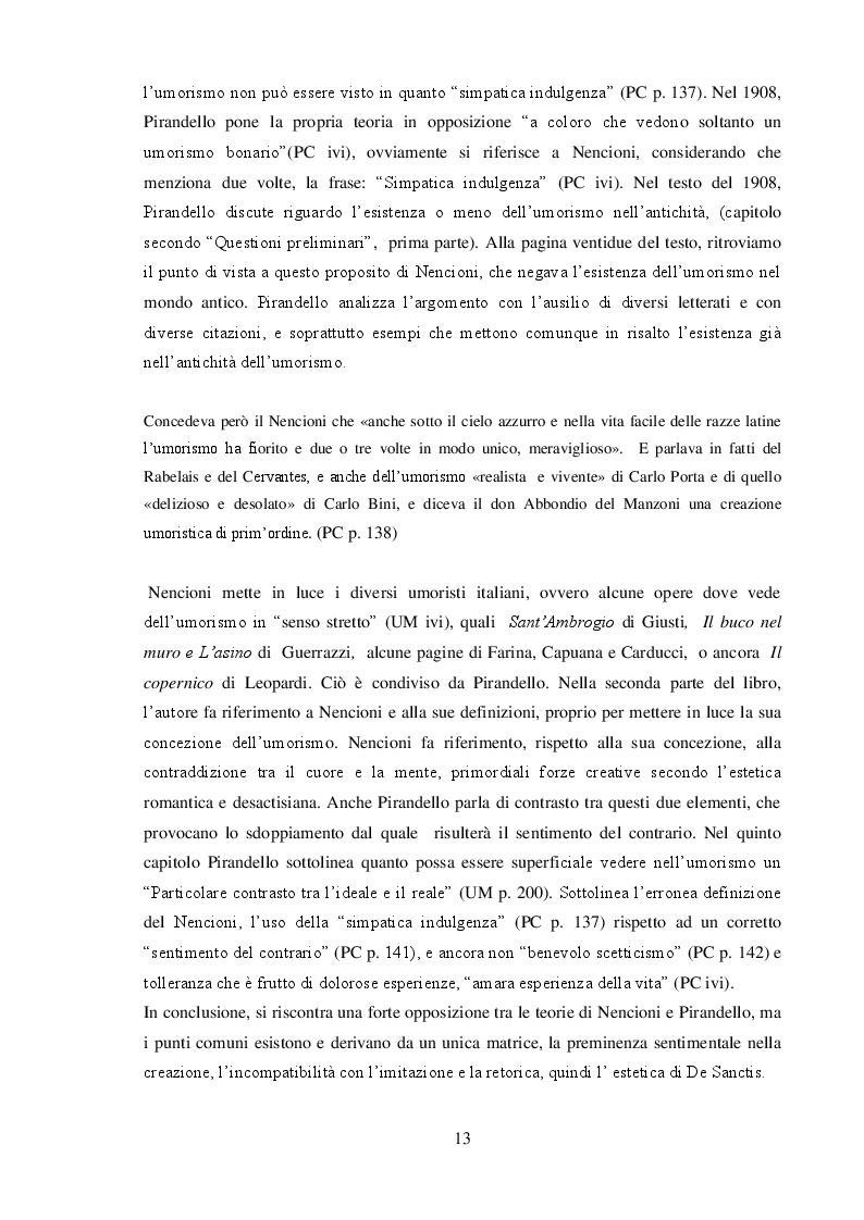 """Anteprima della tesi: """"L'umorismo"""" di Pirandello tra saggio e romanzo, Pagina 3"""