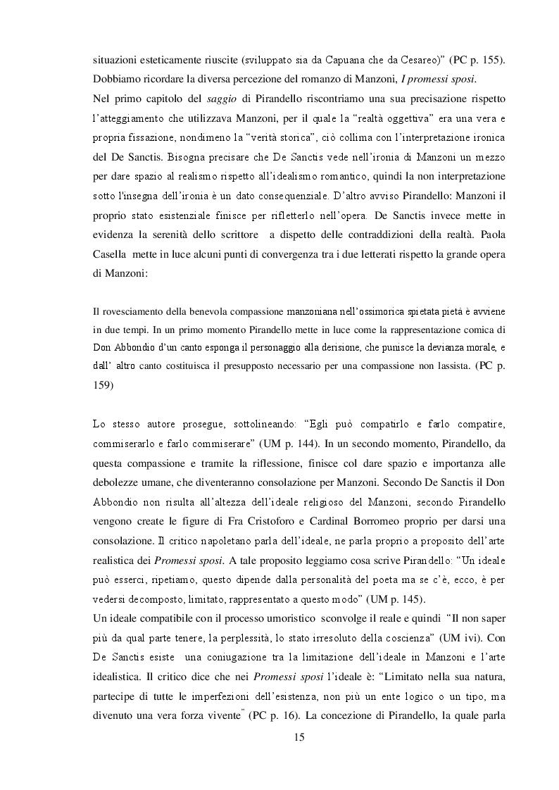 """Anteprima della tesi: """"L'umorismo"""" di Pirandello tra saggio e romanzo, Pagina 5"""