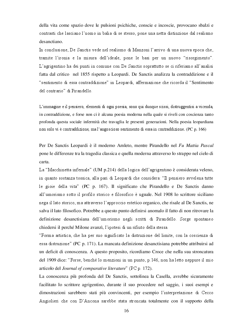 """Anteprima della tesi: """"L'umorismo"""" di Pirandello tra saggio e romanzo, Pagina 6"""