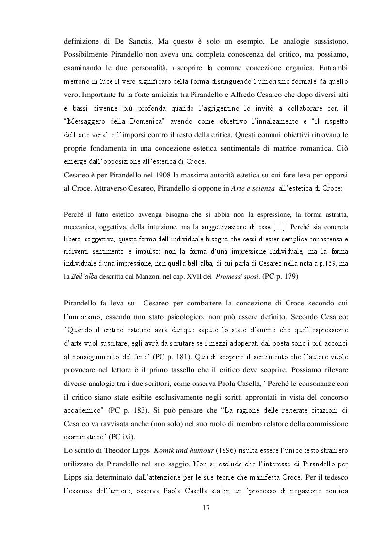 """Anteprima della tesi: """"L'umorismo"""" di Pirandello tra saggio e romanzo, Pagina 7"""